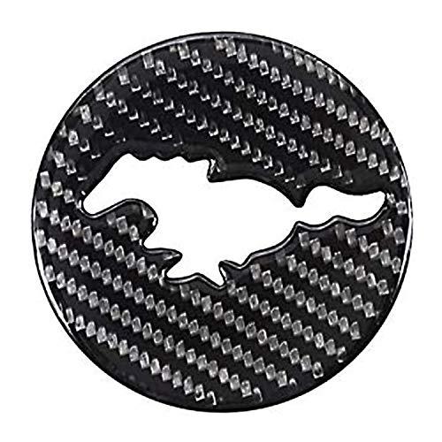 HAOXUAN Kompatibel mit 1PCS Carbon Faseraufkleber Lenkrad Logo Dekoratives Zubehör für F-ord Mu-Stang 2015 2016 2017 2018 2019