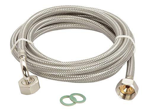 Manguera para lavadora DN8 de acero inoxidable para lavavajillas (3/4 x 3/4 pulgadas, Aquastop, 1,5 m – 5 m, calidad alemana)