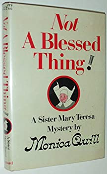Not a Blessed Thing 0814908497 Book Cover