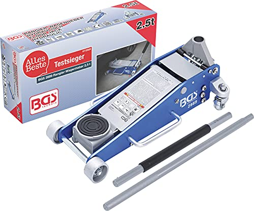 BGS 2889 | Gato de carretilla | construcción de aluminio-acero | 2,5 t