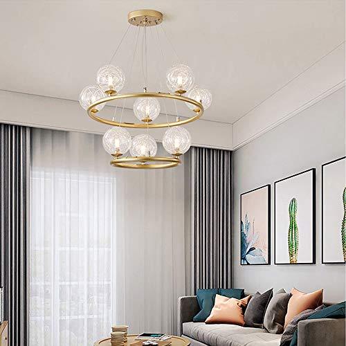 no-branded Sygjal La lámpara de Techo Alambre de Plata Bola de Cristal de la lámpara de luz Caliente de la Sala de Estar Dormitorio Comedor Estudio Φ60cm Moderno