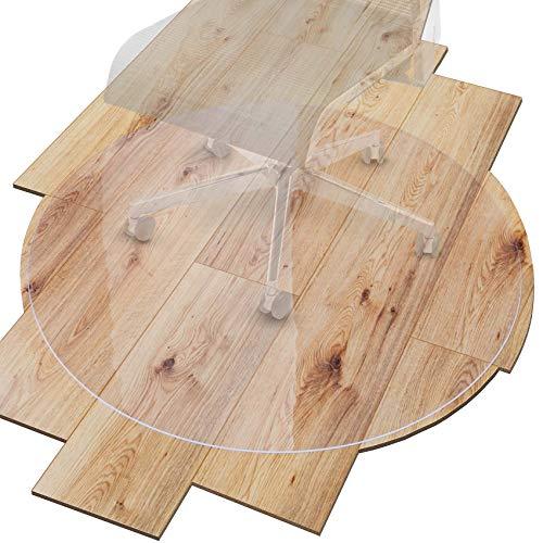 ANRO Bodenschutzmatte Transparent Schutzmatte Schonmatte rutschfest für Hartböden 36 Größen Bürostuhlunterlage 149x149cm Rund