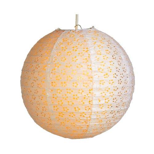 6924 F Papierlaterne, Lampenschirm, 30 cm, doppelte Spitze, Apricotfarben, Innen
