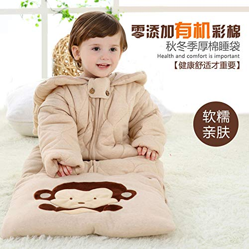 Neutral Swaddle Blanket Baby Sleeping Bag Baby Sleeping Bag Autumn And Winter Cotton Children'S Sleeping Bag Colored Cotton Autumn 0-12 Months @Autumn And Winter Thick_Xl Code Child Comfort Quilt