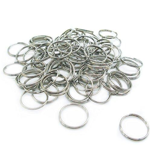 100 anillas pequeñas para llaveros, con diámetro de 15mm