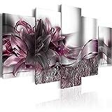 murando Cuadro en Lienzo Flores Lirios 200x100 cm Impresión de 5 Piezas Material Tejido no Tejido Impresión Artística Imagen Gráfica Decoracion de Pared – Naturaleza Abstracto b-A-0273-b-p