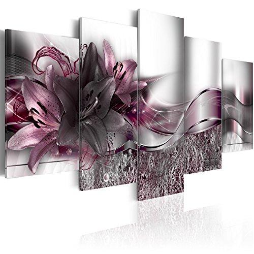 murando - Cuadro en Lienzo Flores Lirios 200x100 cm Impresión de 5 Piezas Material Tejido no Tejido Impresión Artística...