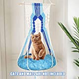 Cat Hammock, Tapestry Swing Bed Macrame Home Decor Hanging Sleeping, Cat Window Hammock Cat...