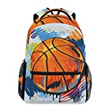 TIZORAX Mochila de baloncesto para la escuela, mochila de senderismo, mochila de viaje