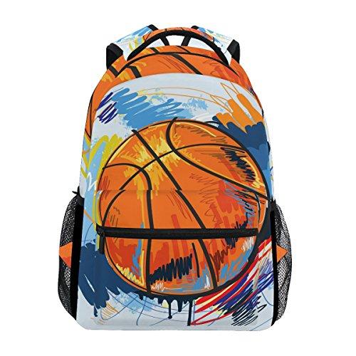 TIZORAX - Zaino da basket per la scuola, per escursioni, viaggi