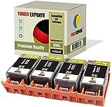4 XL TONER EXPERTE® Compatibles con HP 920XL 920 XL CD975AE Cartuchos de Tinta para HP Officejet 6000, 6500, 6500A, 7000, 7500A (4 Negro)