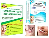 IVORIE Home Temporary Tooth Replacement Kit Cosmetic DIY Teeth Replacement Missing Tooth Make Your Own Teeth Smile Better