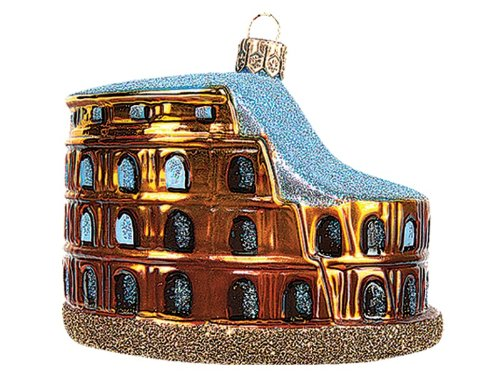 Pinnacle Peak Trading Company Colosseum of Rome Italy Polish Blown Glass Christmas Ornament Tree Decoration