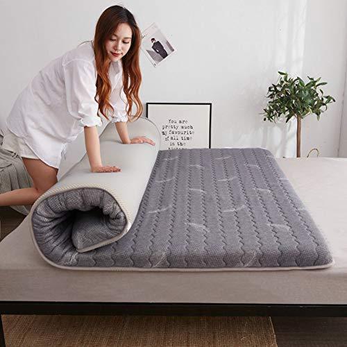 Faltbare Latex-hybrid-matratze, 6cm Dick Atmungsaktive Schlafende Tatami Bodenmatte...