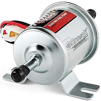 Bravex Universal 12V Low Pressure 2.5-4 PSI Gas Diesel Inline Electric Fuel Pump HEP-02A  2.5-4 PSI