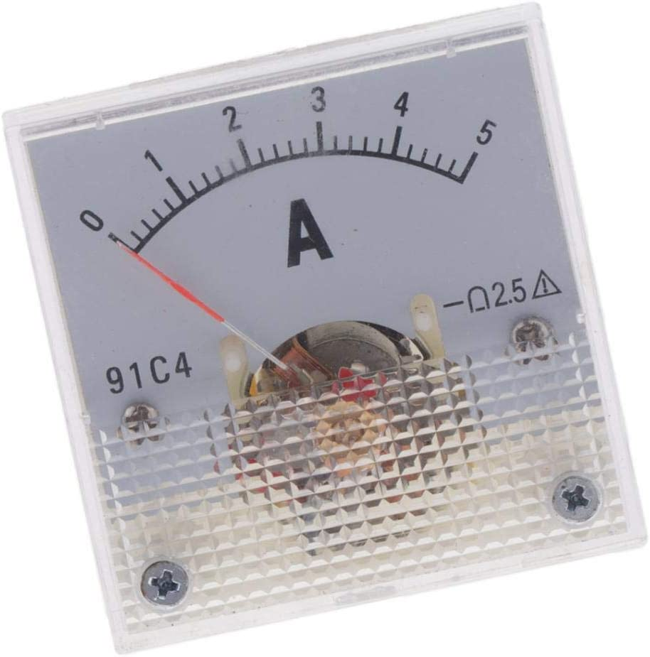 for Auto Circuit Measurement Tester Amp Ammeter Gauge Meter DC 0-1A to 0-10A Serenable Analog Current Panel - 0-1A