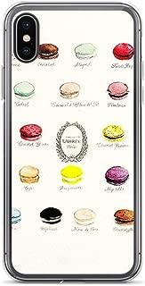 iPhone X/XS Pure Clear Case Cases Cover Laduree Macarons Flavor Menu