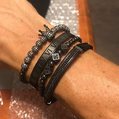 DASHUAIGE Armband Bettelarmband Herrenmode Gold Geflochtene Einstellbare Herrenarmband Für Hip Hop Schmuck Geschenk