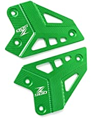 Z900 Motorcycle CNC-Protectors de Clavija de pie del Reposapiés del Motocicleta Cubierta Protectora del Talón para Kawasaki Z900 2017 2018 2019 Verde