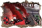 Ultras Nürnberg, 3D Wandsticker Format: 92x62cm,