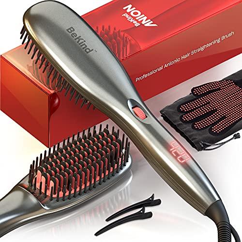 30-IN-1 BeKind Anion Hair Straightener Brush,...