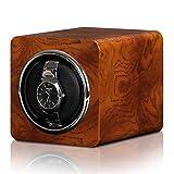 Reloj Winder Mini Winders - Mini Reloj automático Caja de enrollamiento Reloj mecánico Silent Motor Shaker Shaker Relojes Mostrar porta rotación Estuche de almacenamiento Accionado por batería + poten