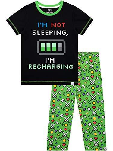 Harry Bear Jungen Energie Aufladen Schlafanzug Grün 140