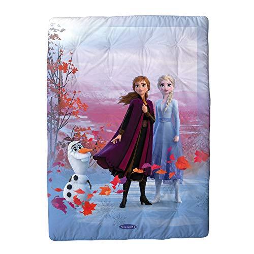 Caleffi Frozen Elsa Scaldotto Plaid Imbottito, Cotone , Unica, CM.110X160, 81209 , Disney