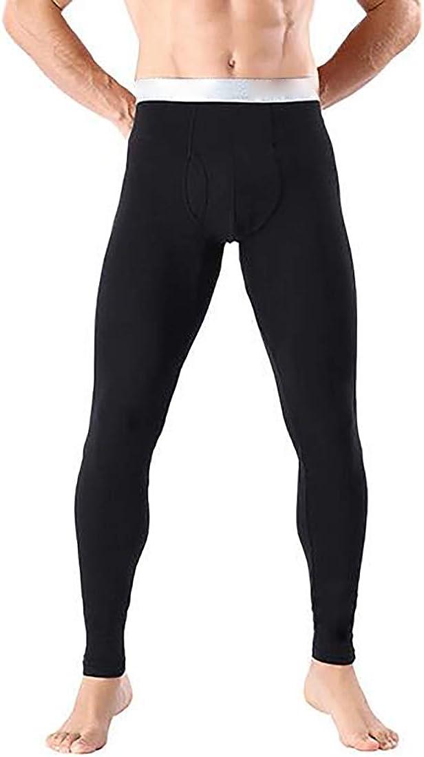 Fulision Mens Thermal Pants Leggings Elasticity Johns Thermal Pants Modal Bottom