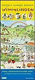 Wimmlingen 2021 – Mega-Familienkalender mit 7 Spalten – Mit 2 Stundenplänen und Ferientabelle – Hochformat 30,0 x 68,5 cm