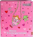 goldbuch personalisiert mit Name - Kindergartensammelordner, Pinky Queeny, A4, Mit 4 illustrierten Trennblättern, 5,5 cm Rückenbreite, Kunstdruck laminiert mit UV-Lack, Rosa, 35447