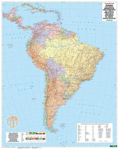 Südamerika Politisch, 1:8 Mio., Poster (freytag & berndt Poster + Markiertafeln)