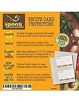 Recipe Card Protectors, Refill Sheets, 50 Pack, Clear, 2 Cards Per Sheet [並行輸入品]
