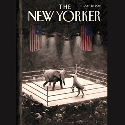 Couverture de The New Yorker, July 25th 2016 (Jane Mayer, Rachel Aviv, Jelani Cobb)