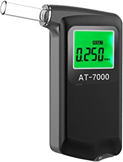 Footprintse alcoholimetro;alcoholimetro homologado Probador Digital de Alcohol en Aliento con Alerta Audible Conducci/ón Segura con Llavero de Color Negro
