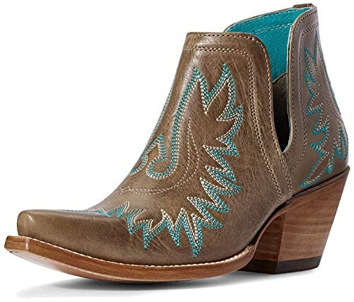 ARIAT womens Dixon Western Boot, Ash Brown, 10 US