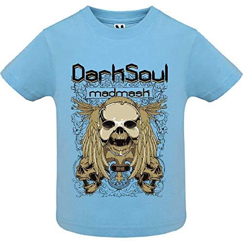 LookMyKase T-Shirt - Dark Soul - Bébé Garçon - Bleu - 18mois