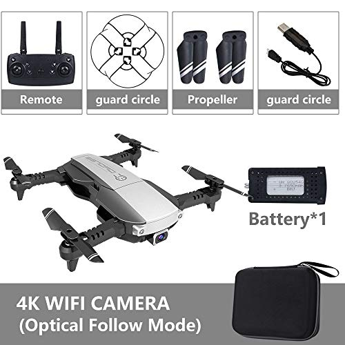 MeterMall Drone x pro 5G Selfie WIFI FPV with 4K HD Dual Camera Foldable RC Quadcopter 4K Black 1 battery