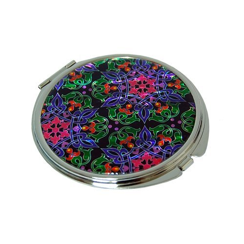 Mother of Pearl Blue Yellow Red Dealing full price reduction Quantity limited Compact Double Cos Design Flower