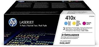HP 410X (CF252XM) Multipack Original Toner (Blau, Magenta, Gelb) mit hoher Reichweite für HP Color Laserjet Pro M452, HP Color Laserjet Pro M477