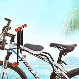 WZOED Kindersitz Fahrradsitz Kind Modischer Abnehmbarer Fahrrad-Vordersitz Kindersitz Pedal mit...