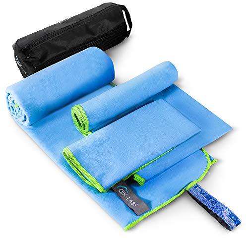 3-teiliges Mikrofaser-Reisehandtuch, schnell trocknendes Handtuch, Reisehandtuch, Camping-Handtuch, schnell trocknendes Handtuch, Rucksackhandtuch, Fitness-Handtuch, Sport-Handtuch, für Bad, Körper