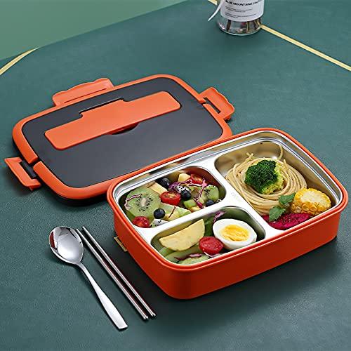 HAOANGZHE Caja de Almuerzo,304 Lunchbox Lunchbox Lunchbox Lunchbox 3 Compartimentos Lunchbox, Office Worker Student Lunchbox 1000ml