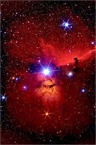 Poster 40 x 60 cm: Pferdekopfnebel im Sternbild Orion von MonarchC - hochwertiger Kunstdruck, neues Kunstposter