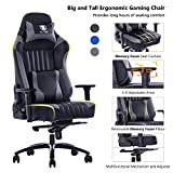 VON RACER Memory Foam Gaming Chair-Adjustable Tilt, Angle and 3D Arms...