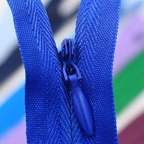 HJCWL 8 stks onzichtbare ritsen diy nylon rits 28 cm 40 cm 50 cm 55 cm 60 cm maat voor naaien kleding kussen kussen op maat tool, 15,50cm