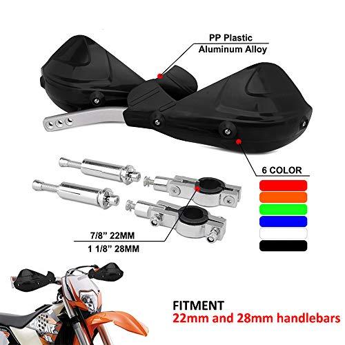 Handguards Dirt Bike Handguards 7/8 Zoll 22 mm und 1 1/8 Zoll 28 mm PP Universal Guard für Off Road K.T.M Yamaha Suzuki Kawasaki Honda Motorrad Motocross Racing Supermoto Dirtbike schwarz