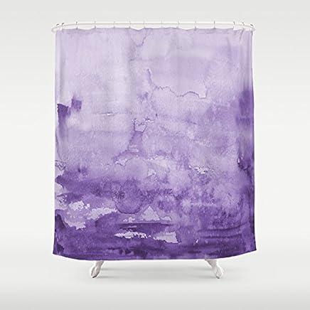 Purple Watercolor Shower Curtain
