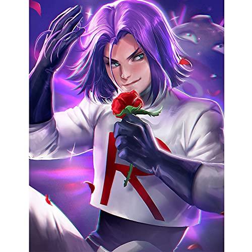 qingqingzijin Imprimir Harman Musashi Pokemon 3D Sexy Anime Girl Art Poster Lienzo Pintura para decoración de Sala de Estar PictureA95 50 × 70CM sin Marco