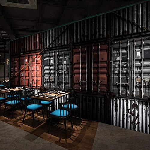 Fototapete Tapete 3D Tapetenwand Retro Nostalgischen Container Tapete Industriellen Wind Tapetenbar Ktv Internet Cafe Hintergrund Tapete Restaurant Restaurant Tapete-400Cmx280Cm